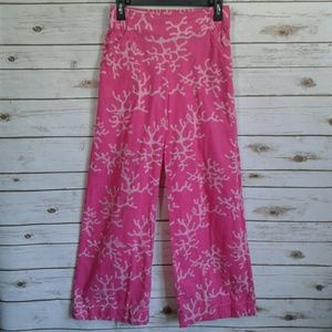 Lilly Pulitzer Pink Coral Wide Leg Beach Pant